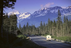 Alaska Highway with RV